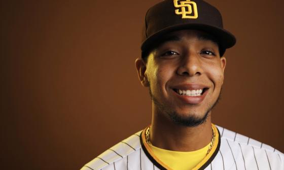 Luis Patiño, lanzador barranquillero de los Padres de San Diego.