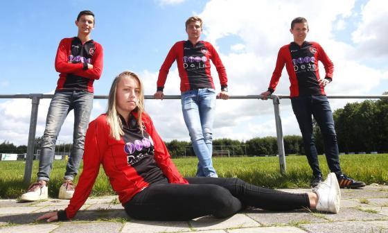 Ellen Fokkema, la futbolista que participará en la cuarta división masculina de Holanda.