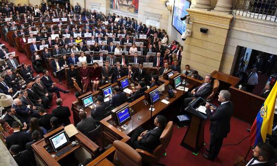 El presidente Duque interviene en la instalación de la legislatura 2019-2020 del Congreso de la República.