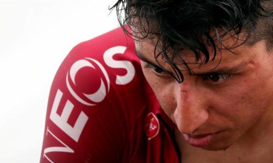 Egan Bernal tras la disputa de la segunda etapa del Tour de L'Ain.