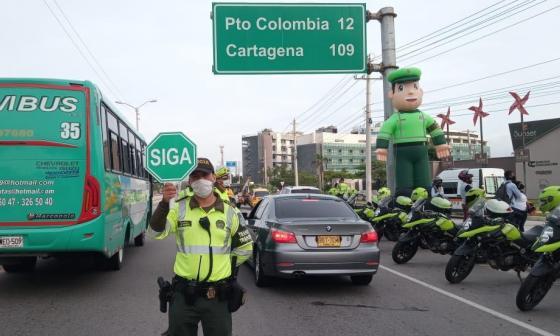 La Policía de Tránsito de Barranquilla permanece en las vías durante todos los puentes festivos.