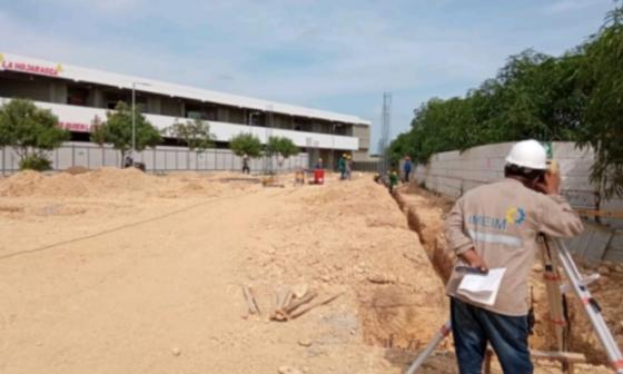 Reactivan obras en dos megacolegios en Cartagena