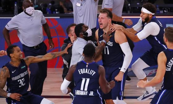 Doncic, con un triple-doble y un triple ganador, deja huella en la NBA