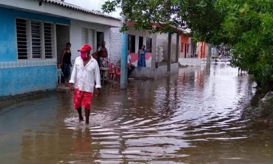 La Ciénaga Grande se desbordó e inundó Puebloviejo, Magdalena
