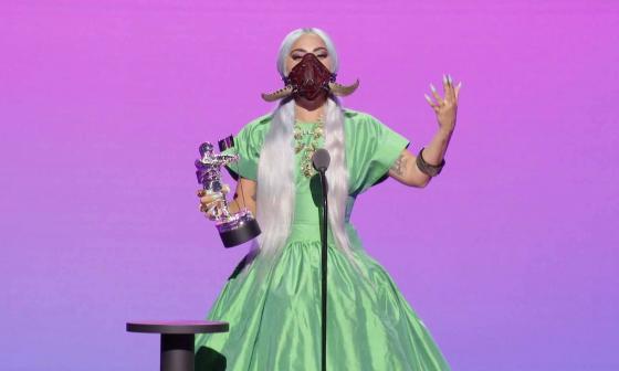 Los 5 premios de Lady Gaga y sus originales mascarillas protagonizan los VMA
