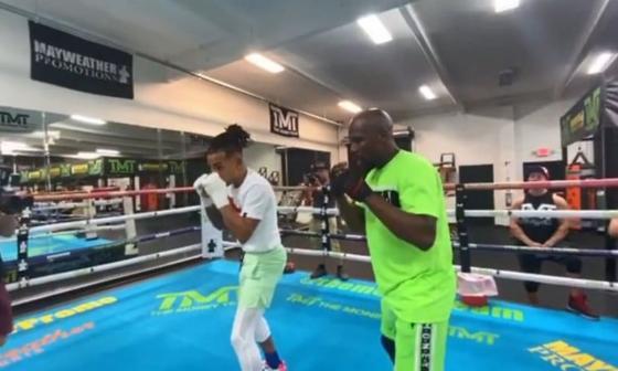 Ozuna se subió al ring con Mayweather