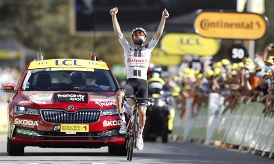El suizo Marc Hirschi se quedó con la etapa doce del Tour de Francia.