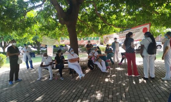 Trabajadores de hospital en Valledupar de nuevo a paro