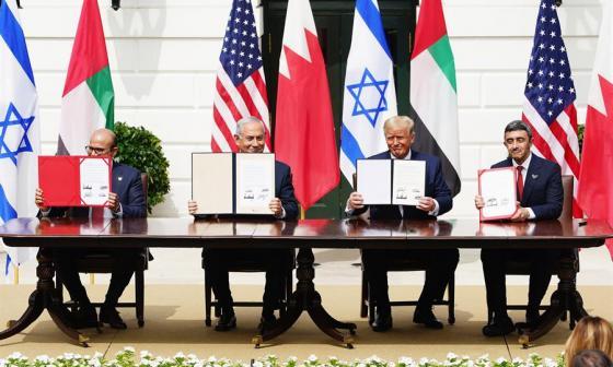 Israel formaliza sus relaciones con Emiratos Árabes y Baréin