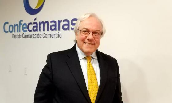 Julián Domínguez Rivera, presidente de la Confederación Colombiana de Cámaras de Comercio (Confecámaras).
