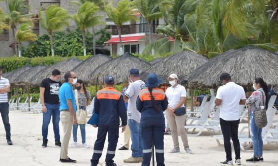 Zona insular, en piloto de playas en Cartagena