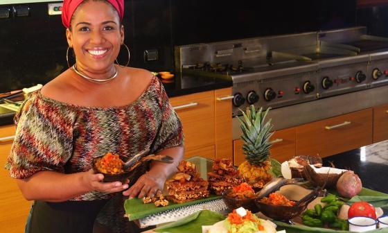 Milena Lora, de Barranquilla, presentó este año su receta 'Encocado de camarones'.