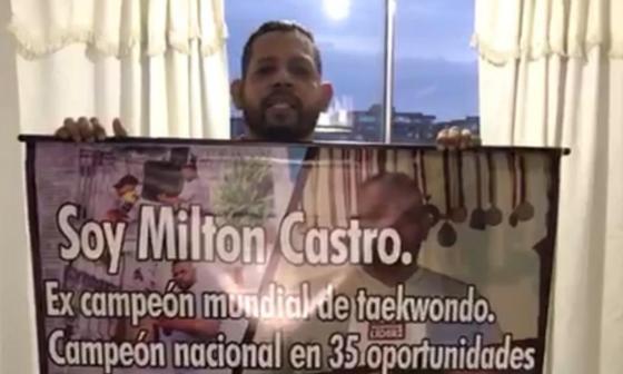 Milton Castro insiste en su pensión como gloria del deporte colombiano