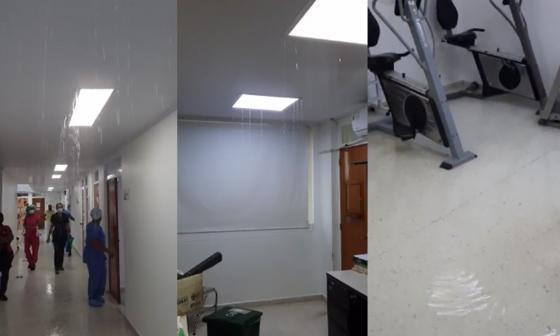 En video | Hospital de San Andrés: sin UCI e inundado