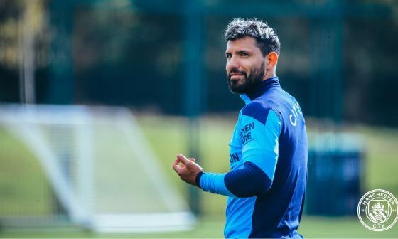 Sergio Agüero regresó a los entrenamientos grupales del Manchester City.