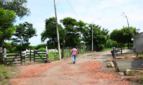 Lugar de la manga La Esperanza, en el corregimiento de Juan Mina, donde dicen que se hace la quema.