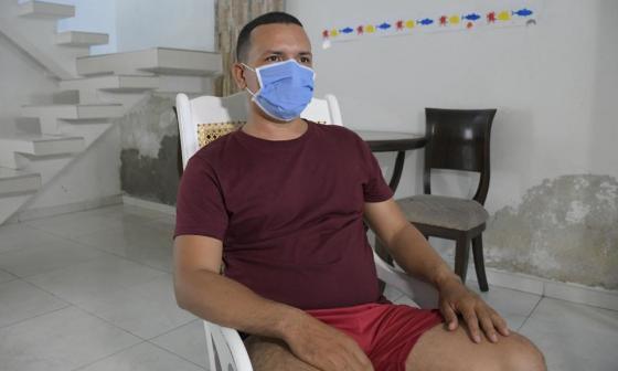 Hader Ternera Gómez, patrullero herido.