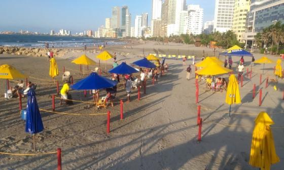 Dos turistas rescatadas de playas no autorizadas en Cartagena