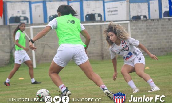 Junior trabaja arduamente de cara al debut en la Liga, el próximo martes, ante el Deportivo Cali.