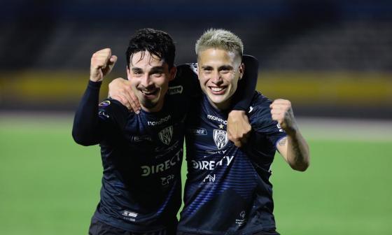 Lorenzo Faravelli y Cristian Ortiz, de Independiente del Valle.