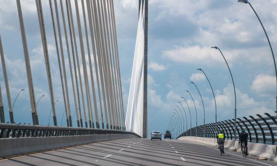 Aspecto del puente Pumarejo.