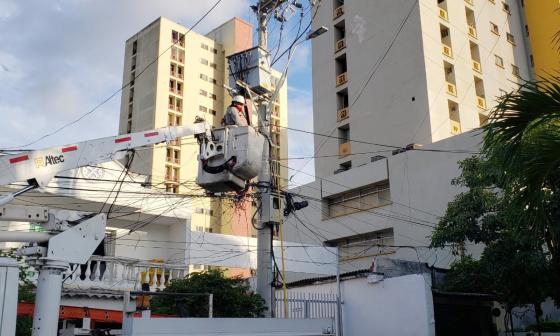 Cortes de luz este lunes por mejoras en infraestructura eléctrica
