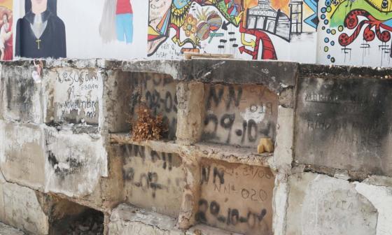 Los difuntos sin dolientes en el cementerio de Sincé