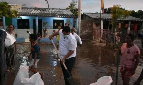 Ciénaga Grande inunda calles y se mete a las casas en Puebloviejo