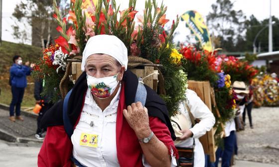 Por primera vez el Desfile de Silleteros se llevó a cabo sin público.
