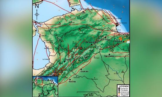 Un sismo de magnitud 4,2 en la escala Richter sacude el noroeste de Venezuela