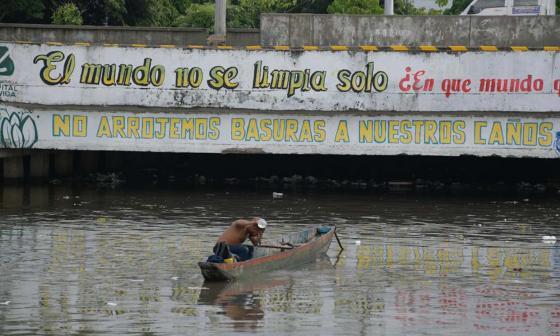 'Río de basura': lluvias arrastran desechos hasta el Caño de la Auyama