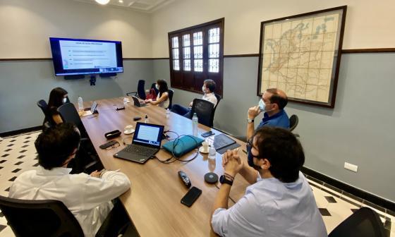 Reunión entre la Alcaldía de Barranquilla y Cormagdalena.