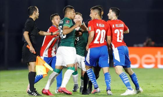 Durante el partido hubo varios roces entre los jugadores de ambas selecciones.