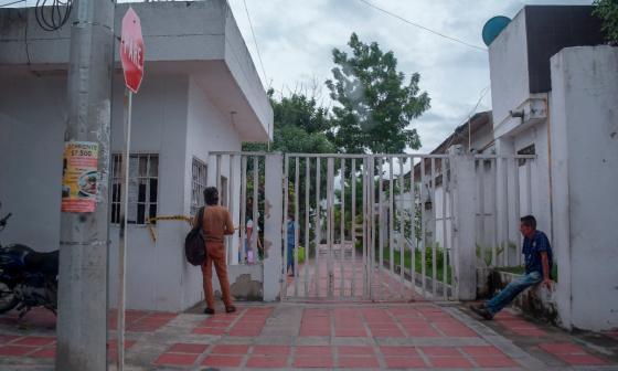 Fachada de la sede de la Registraduría Municipal de Galapa.
