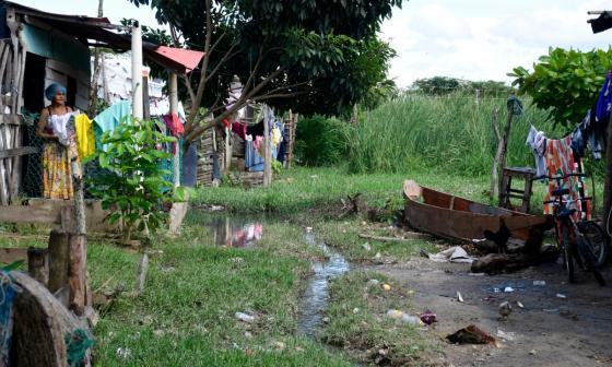 Damnificados en Malambo, en alto riesgo de inundación