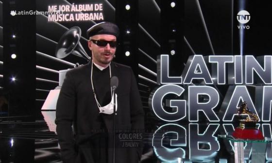 La producción 'Colores' de J Balvin  ganó en la categoría  de Mejor Álbum de Música Urbana.