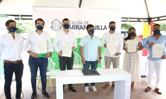 Alcaldes locales tomaron posesión ante Pumarejo