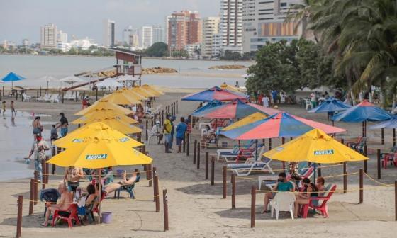 Reabren otro tramo de playa biosegura en Bocagrande