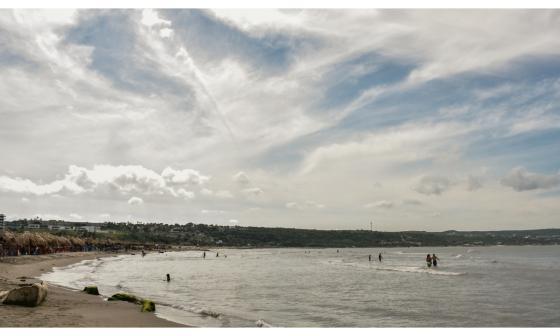En Video   Baja afluencia en playas este 8 de diciembre