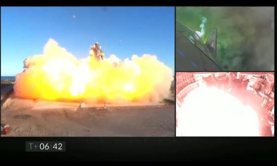 En video | Una nave de SpaceX explota durante un aterrizaje de prueba