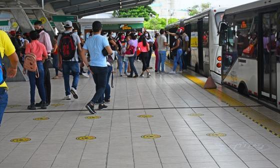 Números de Transmetro siguen en rojo a causa de la pandemia