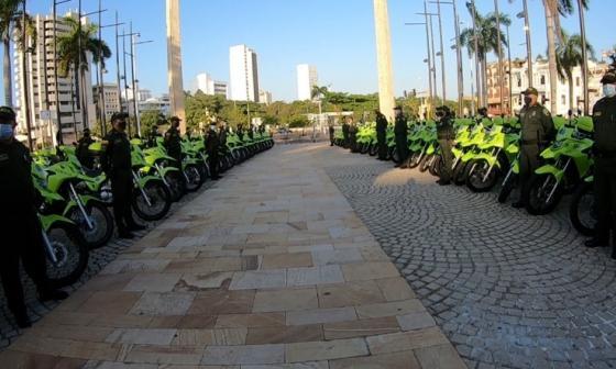 MinInterior dona 177 motos a la Policía de Cartagena y Bolívar