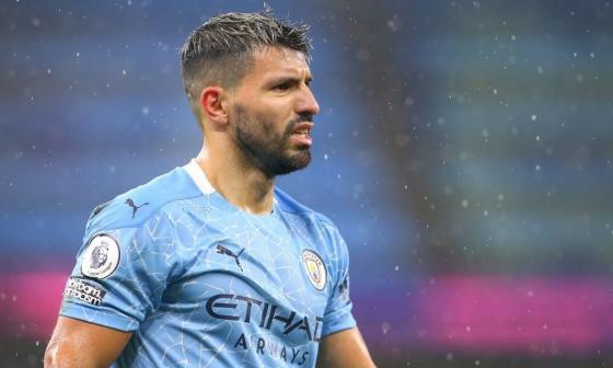Sergio Agüero se perderá los próximos partidos del Manchester City.