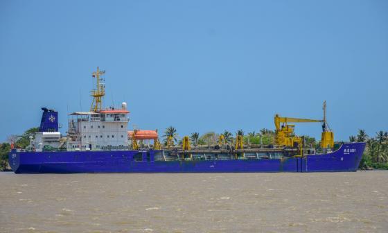 Se reinician labores de dragado en el Puerto de Barranquilla
