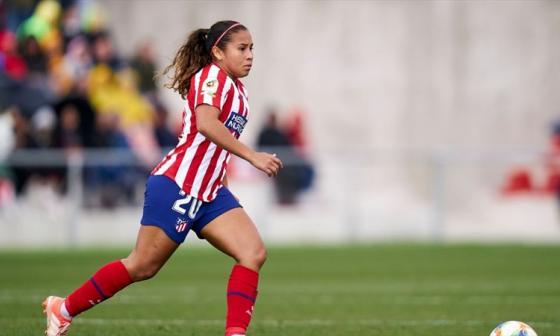 Leicy Santos, actual jugadora del Atlético de Madrid femenino.