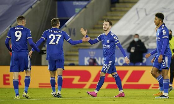 El Leicester City se colocó de primero en la tabla de la Premier League.