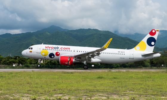 Un avión de Viva Air.