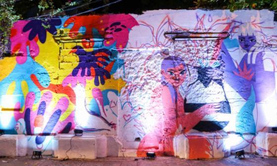 El mural de grafiti está ubicado en el barrio Getsemaní, en Cartagena.