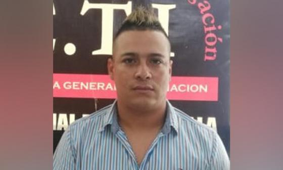 Bladimir de Jesús Cera García, capturado.