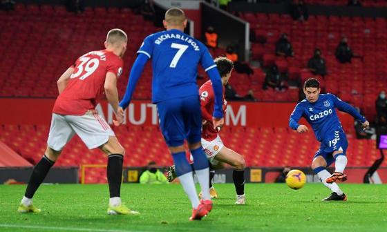 En video | El golazo de James Rodríguez al Manchester United